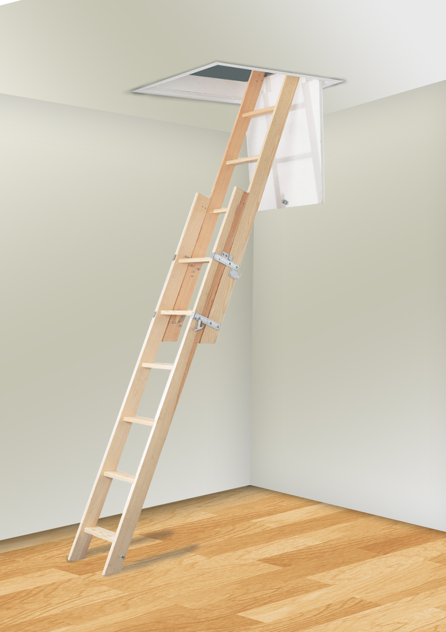 2 Section Timber The Loft Ladder Company throughout size 889 X 1260