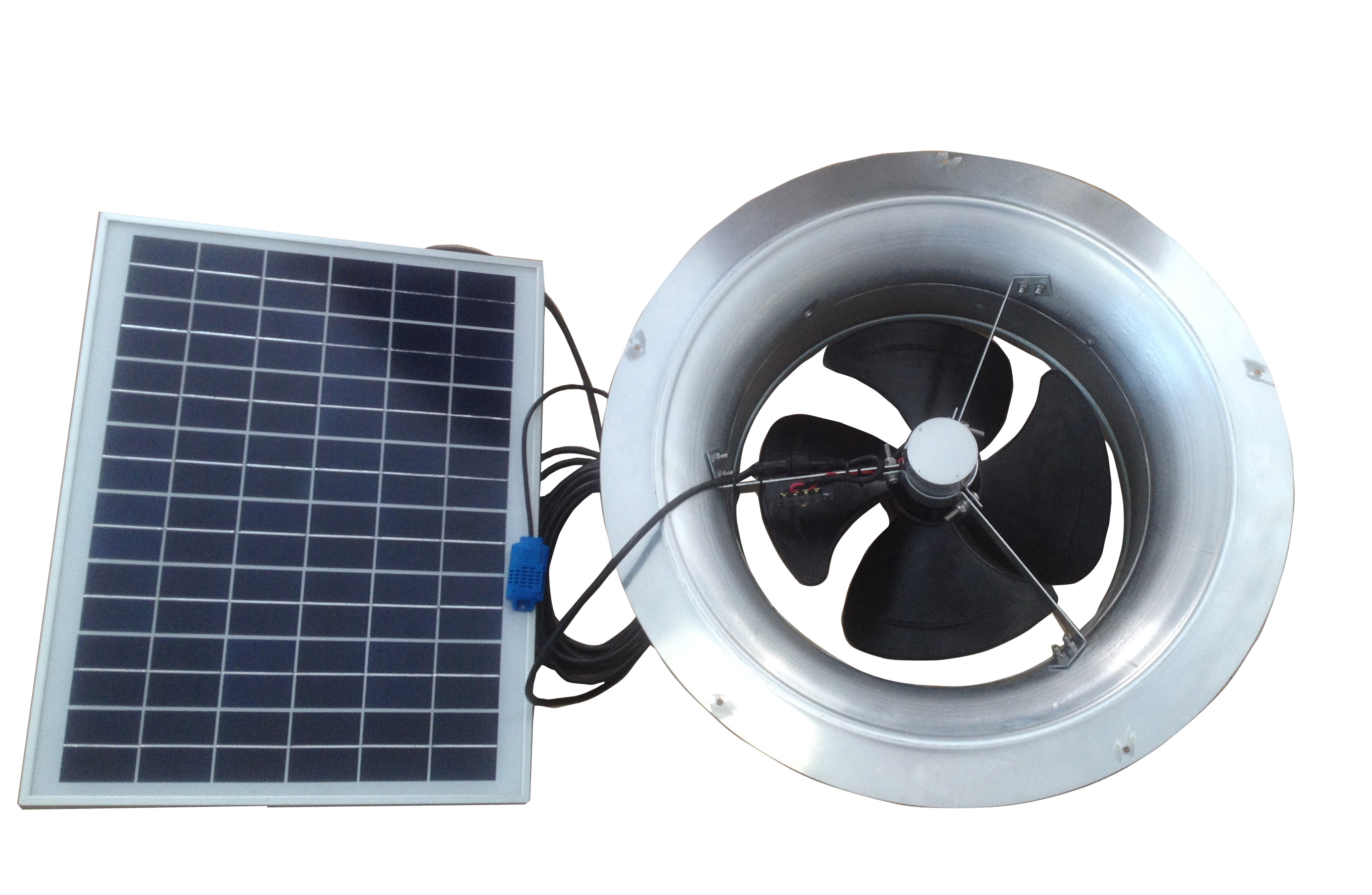20 Watt Gable Mount Remote Panel Solar Attic Fan Remington Solar pertaining to proportions 2772 X 1808