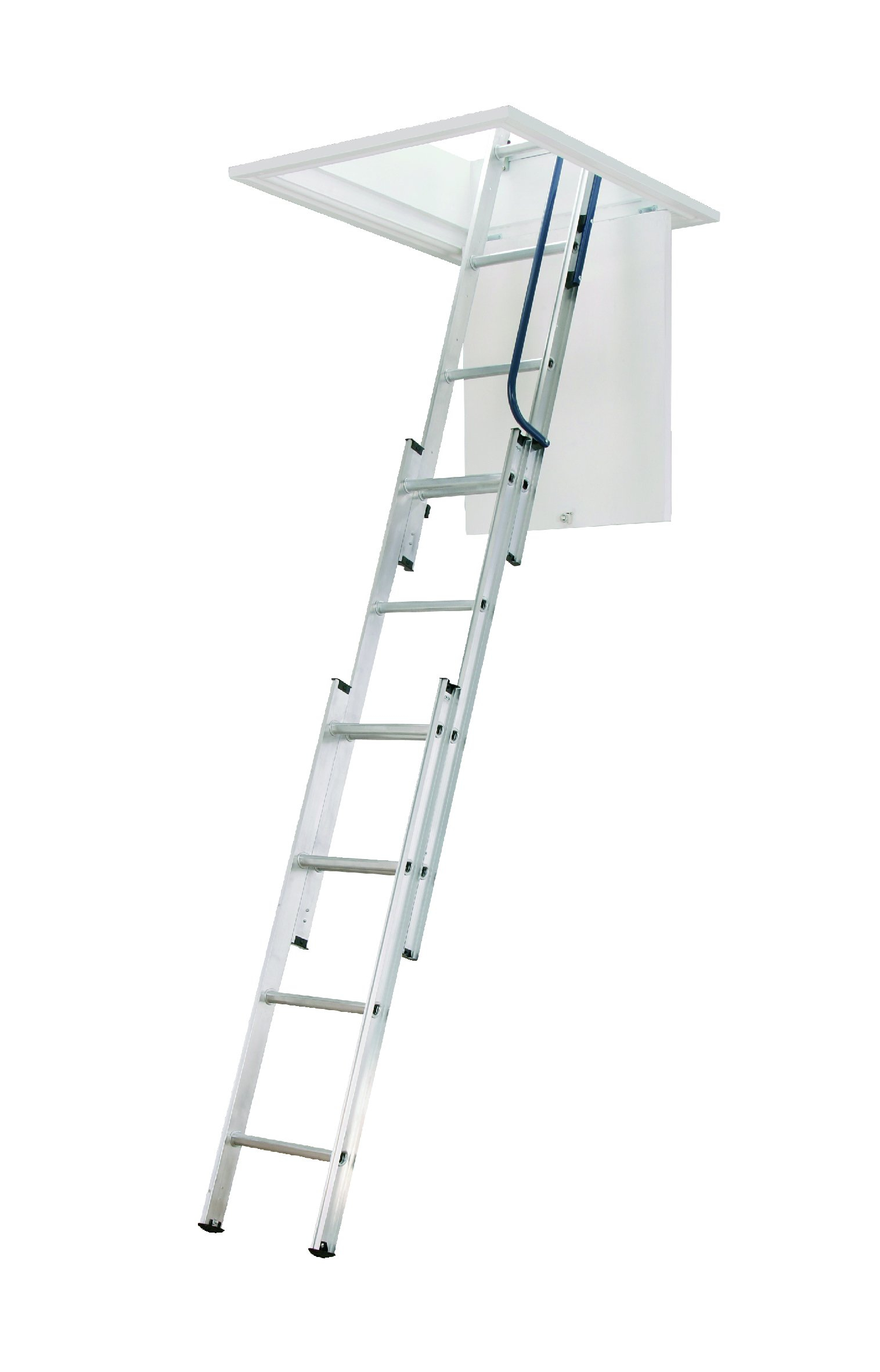 3 Section Aluminium Loft Ladder Load Bearing 150kgs Attic Ladder regarding dimensions 1516 X 2362