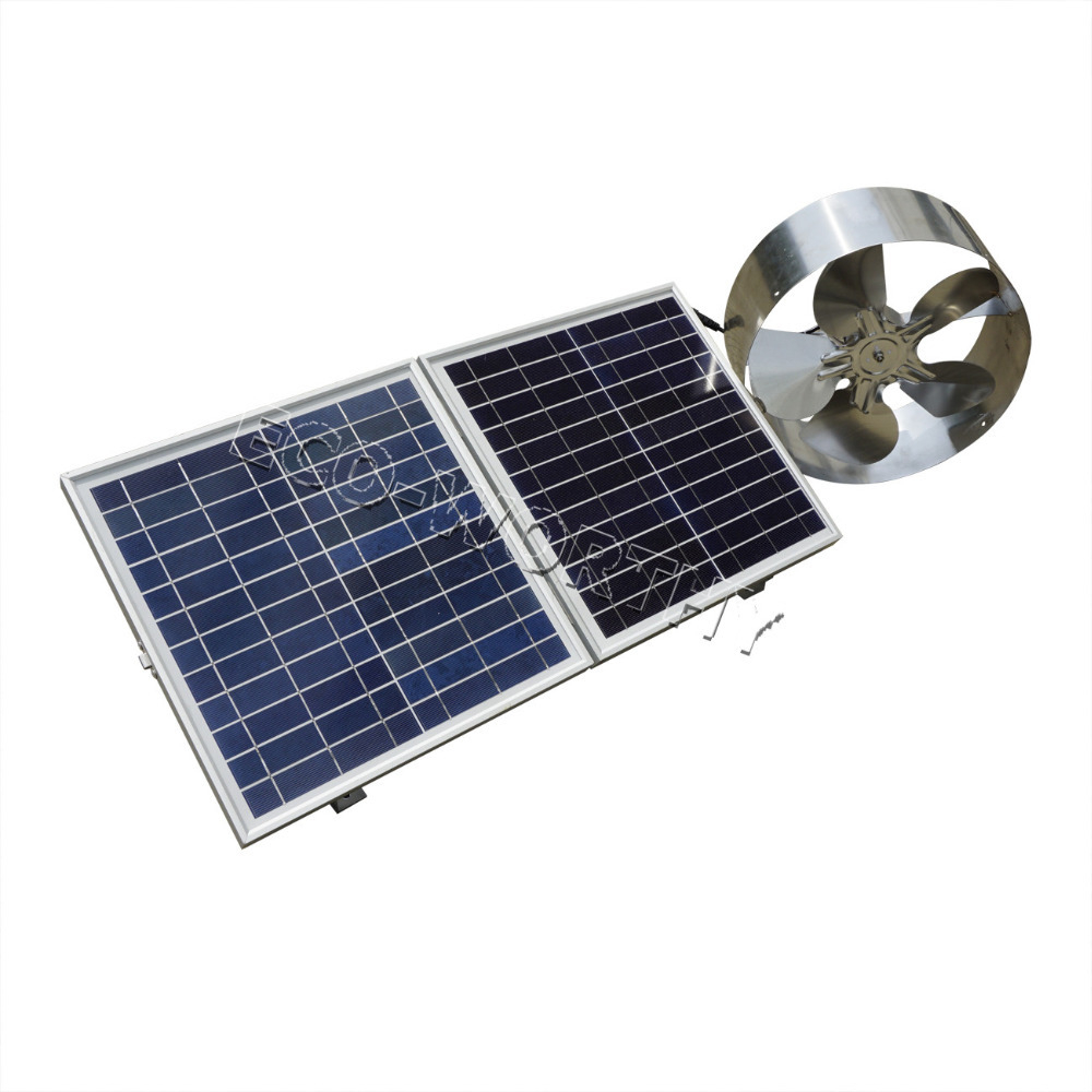 62 Solar Powered Gable Attic Fan 20 Watt Gable Mounted Solar regarding measurements 1000 X 1000
