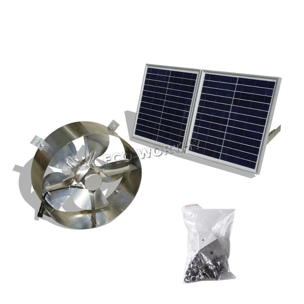 62 Solar Powered Gable Attic Fan 20 Watt Gable Mounted Solar with regard to sizing 1000 X 1000