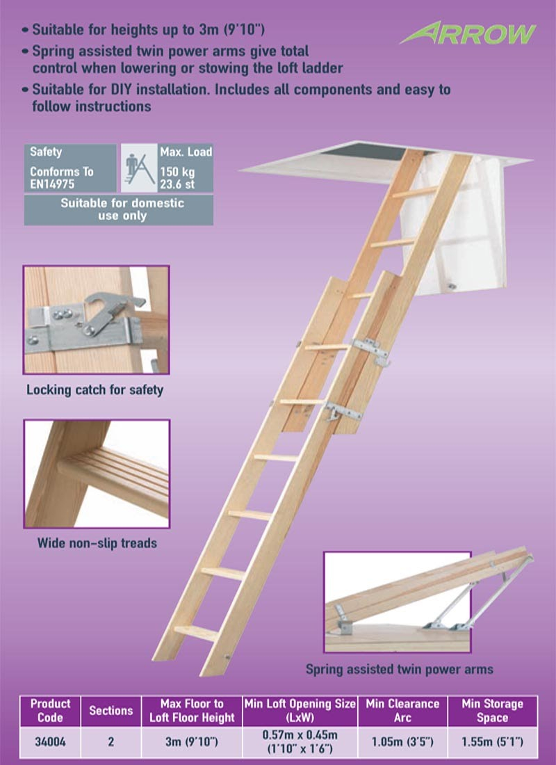 Sliding Wood Attic Ladder Attic Ideas