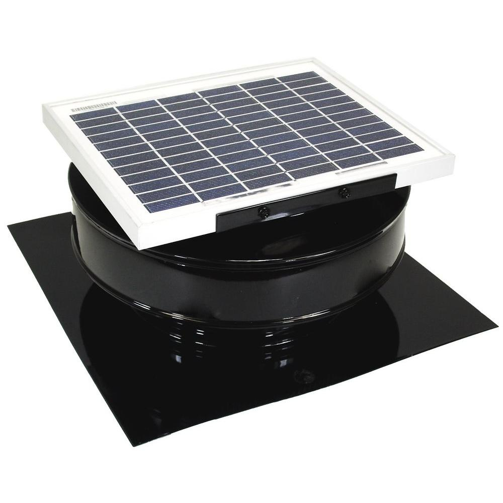 Active Ventilation 365 Cfm Black Powder Coated 5 Watt Solar throughout sizing 1000 X 1000