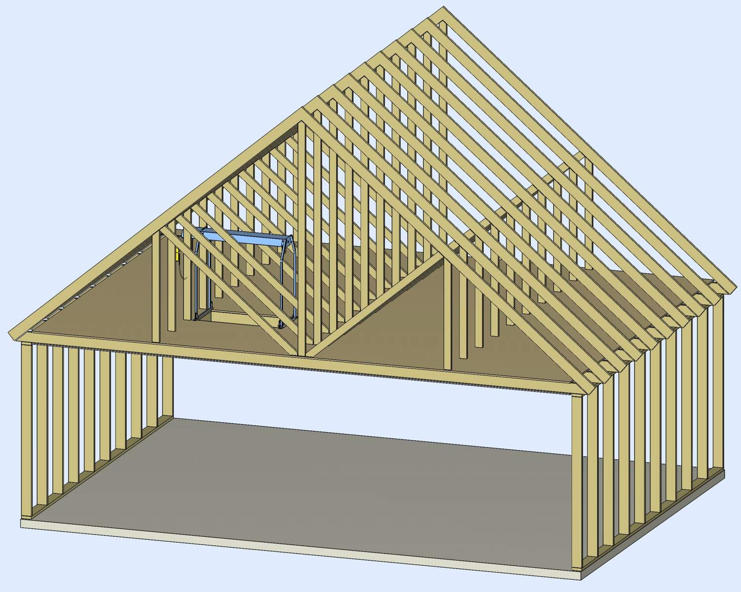Roof truss design for attic storage attic ideas for Premade roof trusses