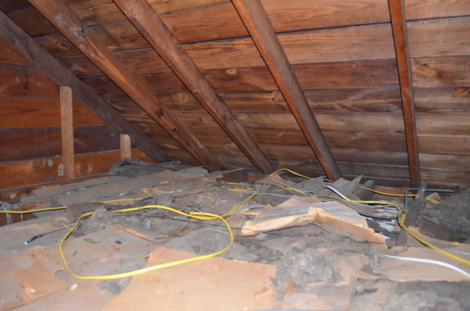 Old Brown Attic Insulation Attic Ideas