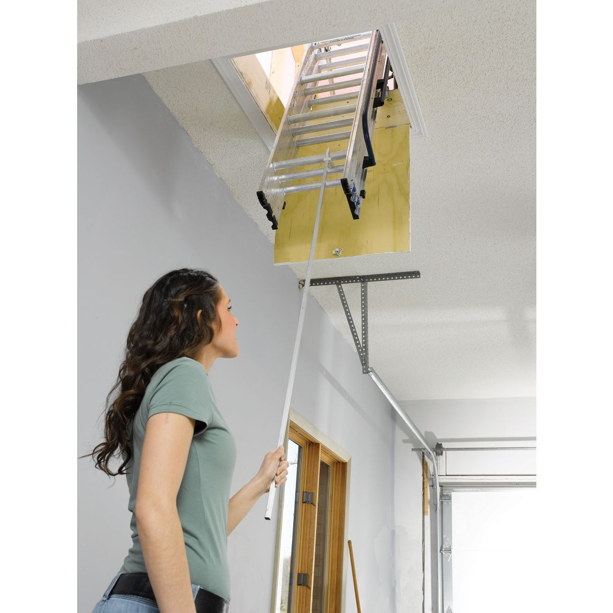 Attic Ladder Reviews Into The Glass Pull Down Stairs with regard to size 1200 X 1200