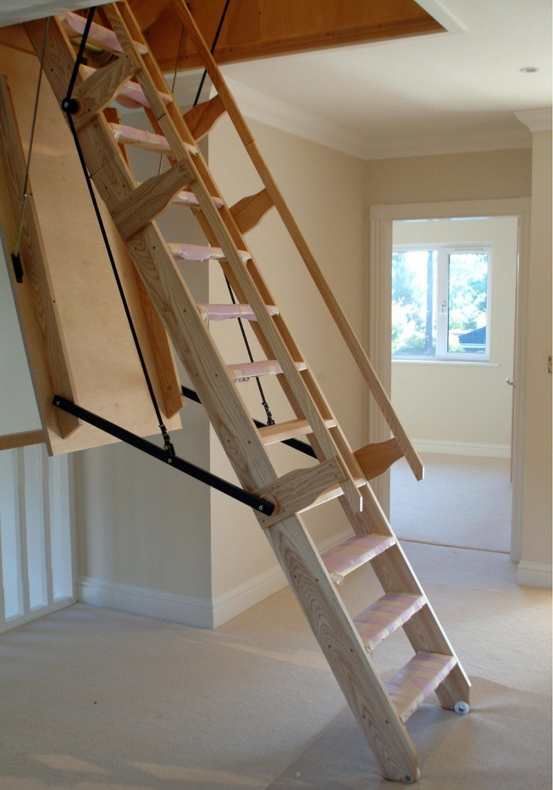 Attic Ladder Small Opening Wood New Interior Ideas Great within size 800 X 1142