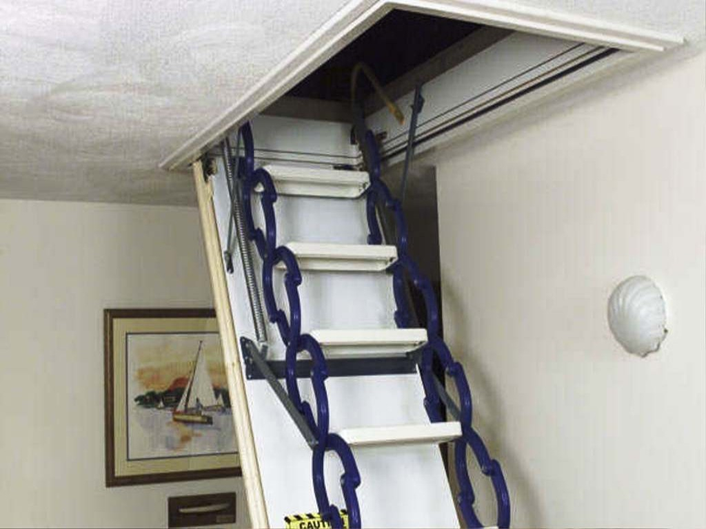 Attractive Attic Stairs Simple Methods To Locate And Heavy Duty Pertaining  To Proportions 1024 X 768