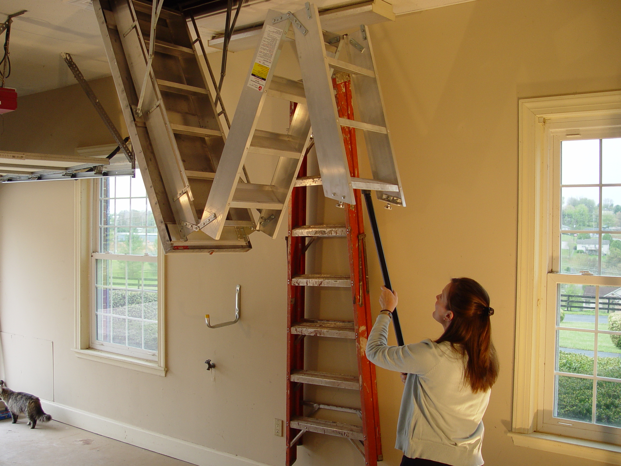 Basic Pull Down Attic Stairs Tips Latest Door Stair Design Intended For  Sizing 2560 X 1920