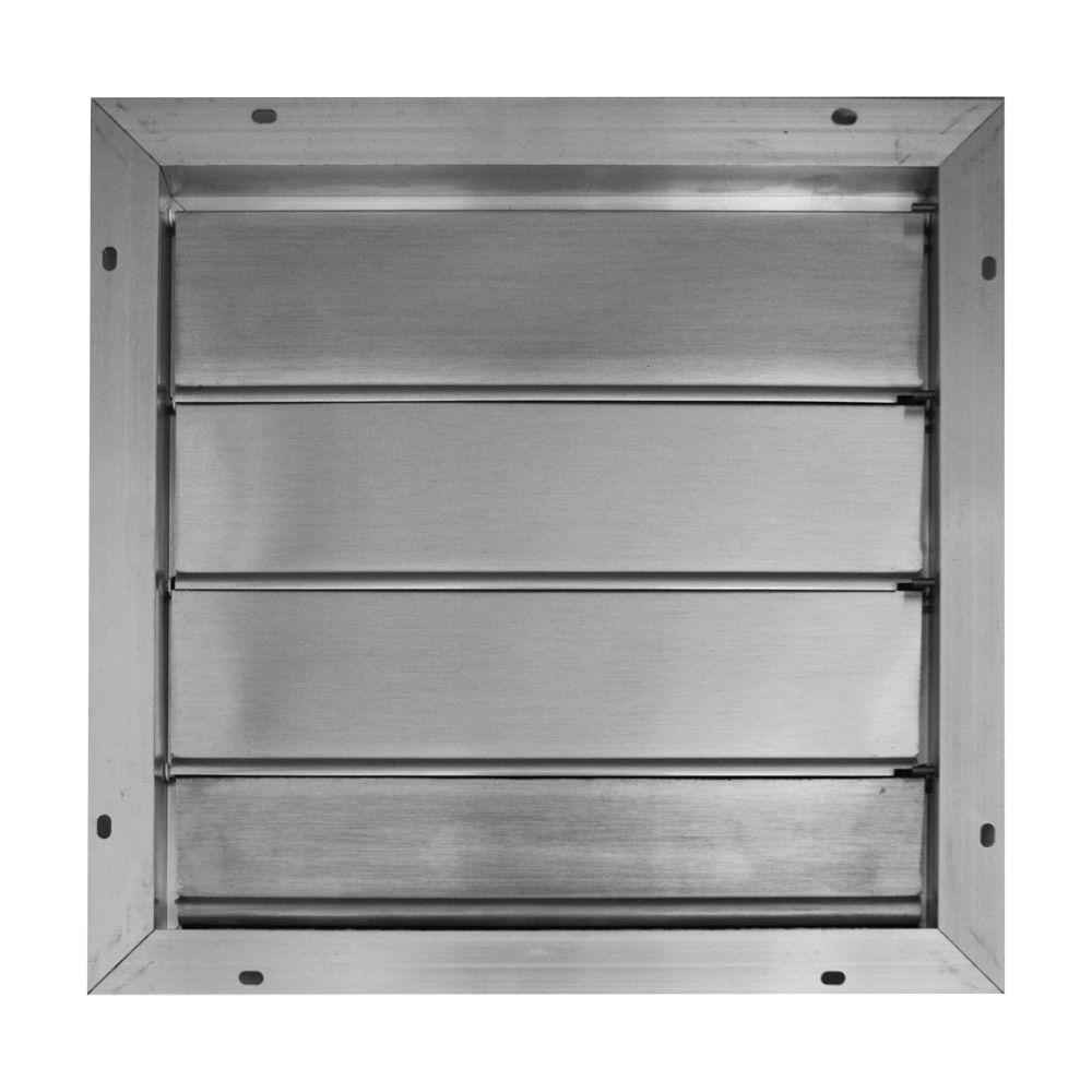 Broan 1675 In X 1675 In Aluminum Automatic Gable Square Mount intended for size 1000 X 1000