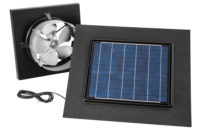 Broan 28 Watt Solar Powered Black Gable Mount Attic Vent 345gobk in sizing 1000 X 1000
