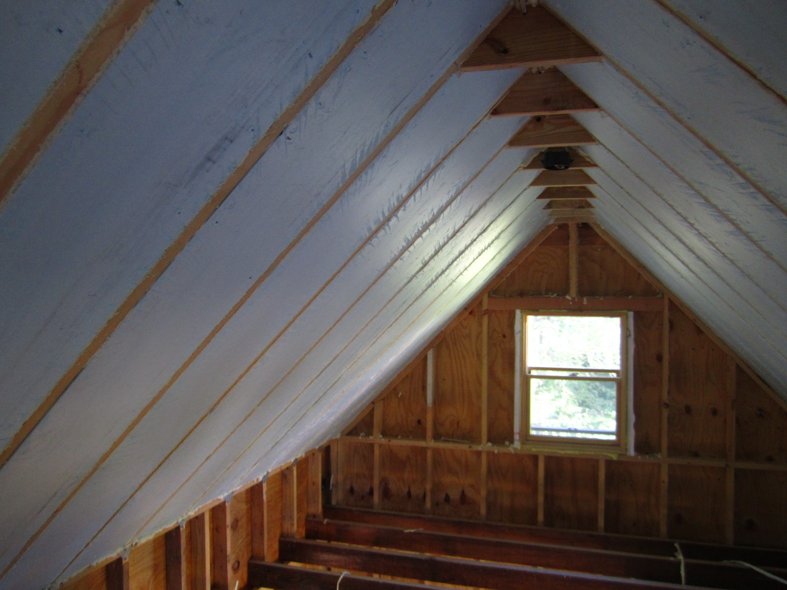 Insulating Attic Rafters Ceiling Attic Ideas