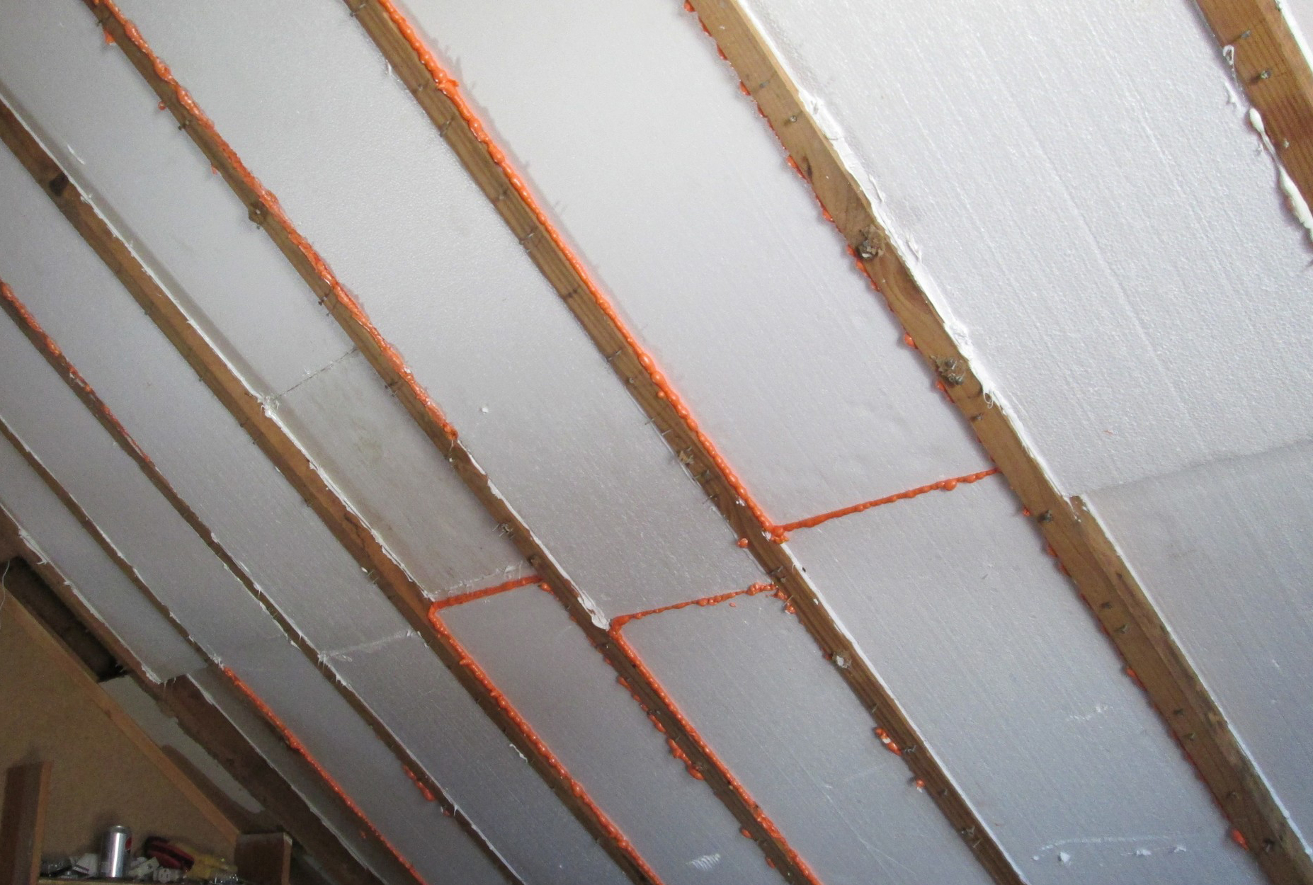 Rigid foam insulation attic rafters attic ideas for Which insulation is better