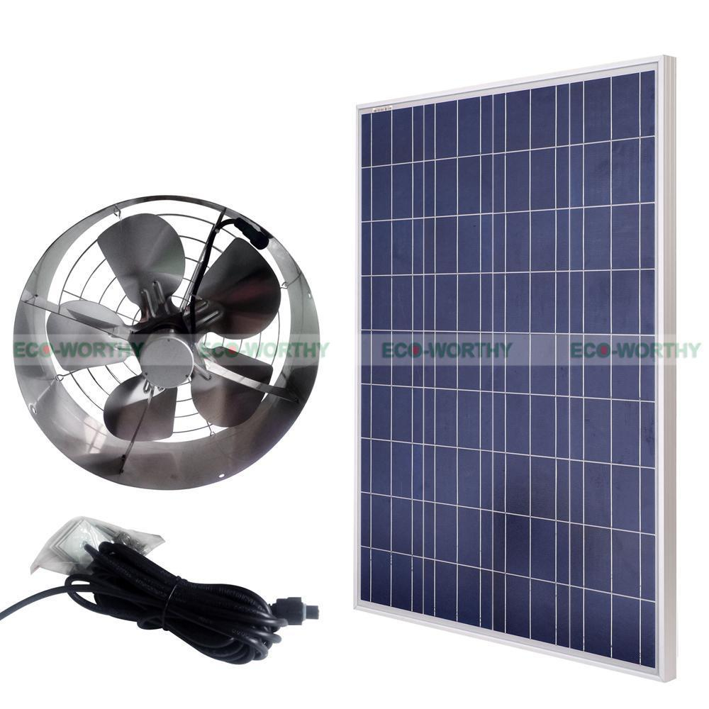 Eco Worthy 65w Solar Powered Attic Ventilator Roof Vent Fan W regarding measurements 1000 X 1000