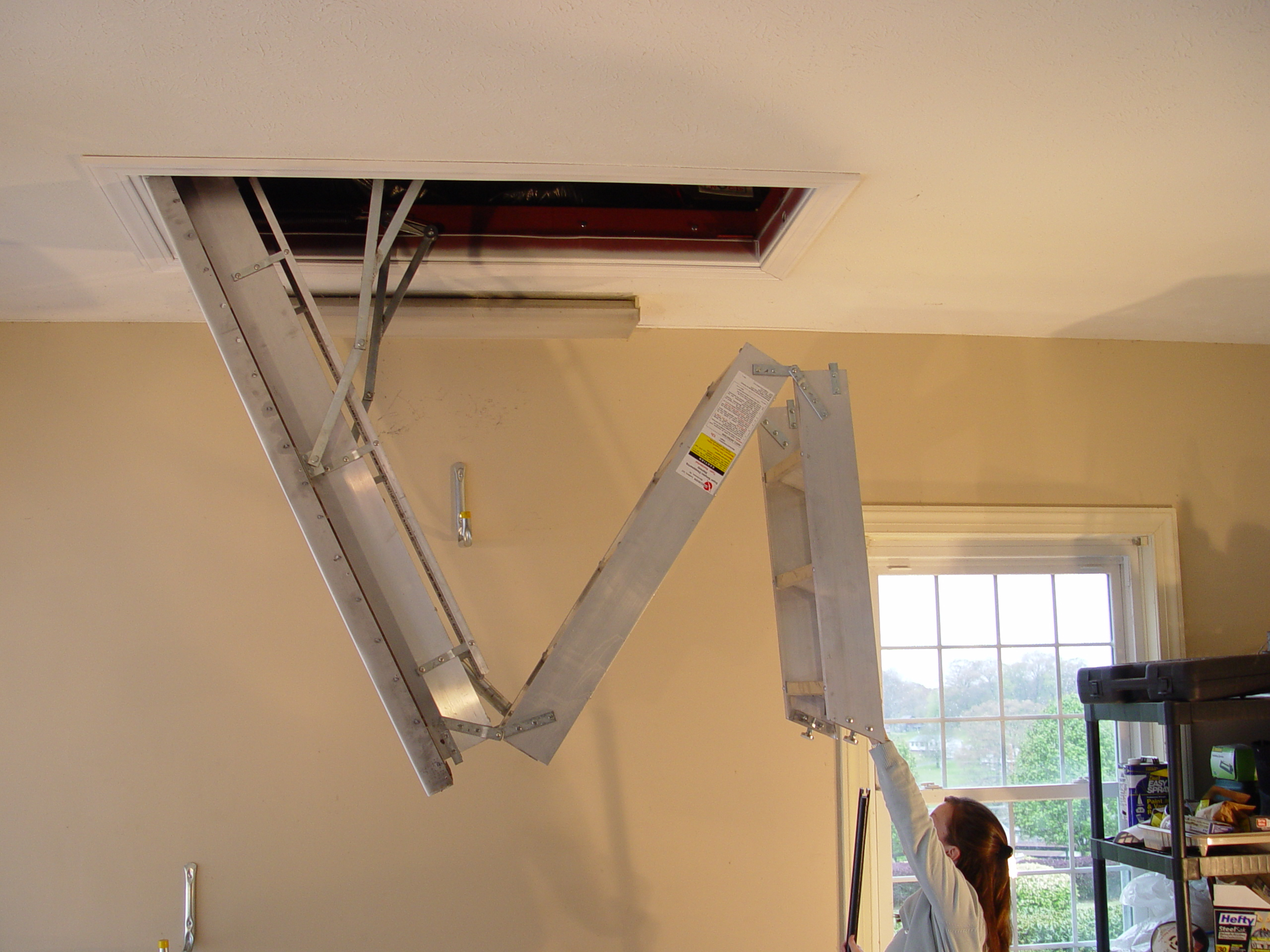 Attic Pulldown Stairs Latch Attic Ideas