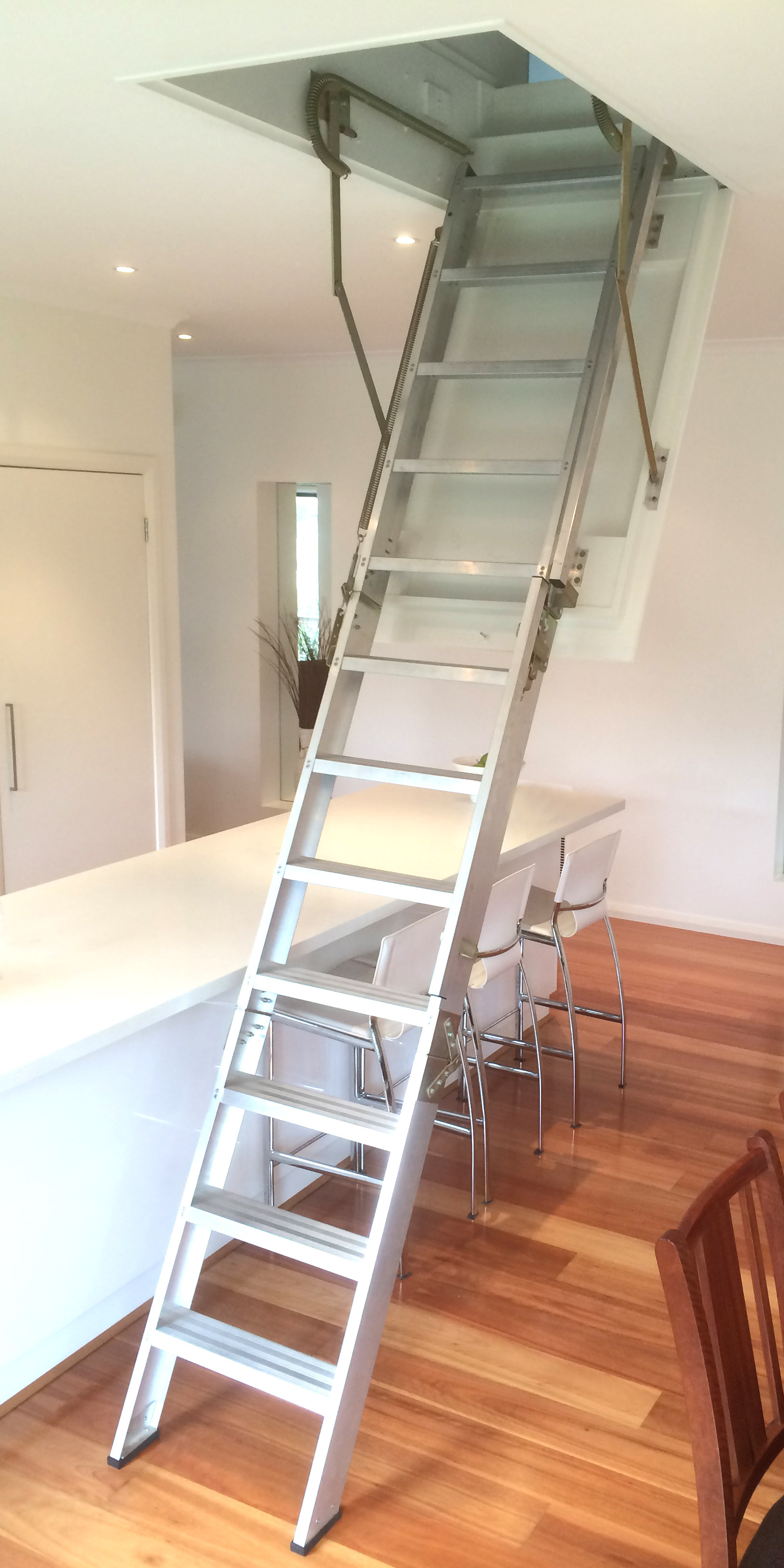 Furniture Aluminium Kitchen Attic Access Stairs With Attic Access Within  Proportions 1626 X 3252