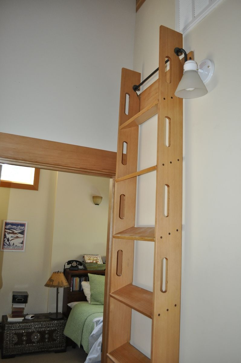 Handmade Attic Access Ladder Blake Underwood Custommade with proportions 797 X 1200