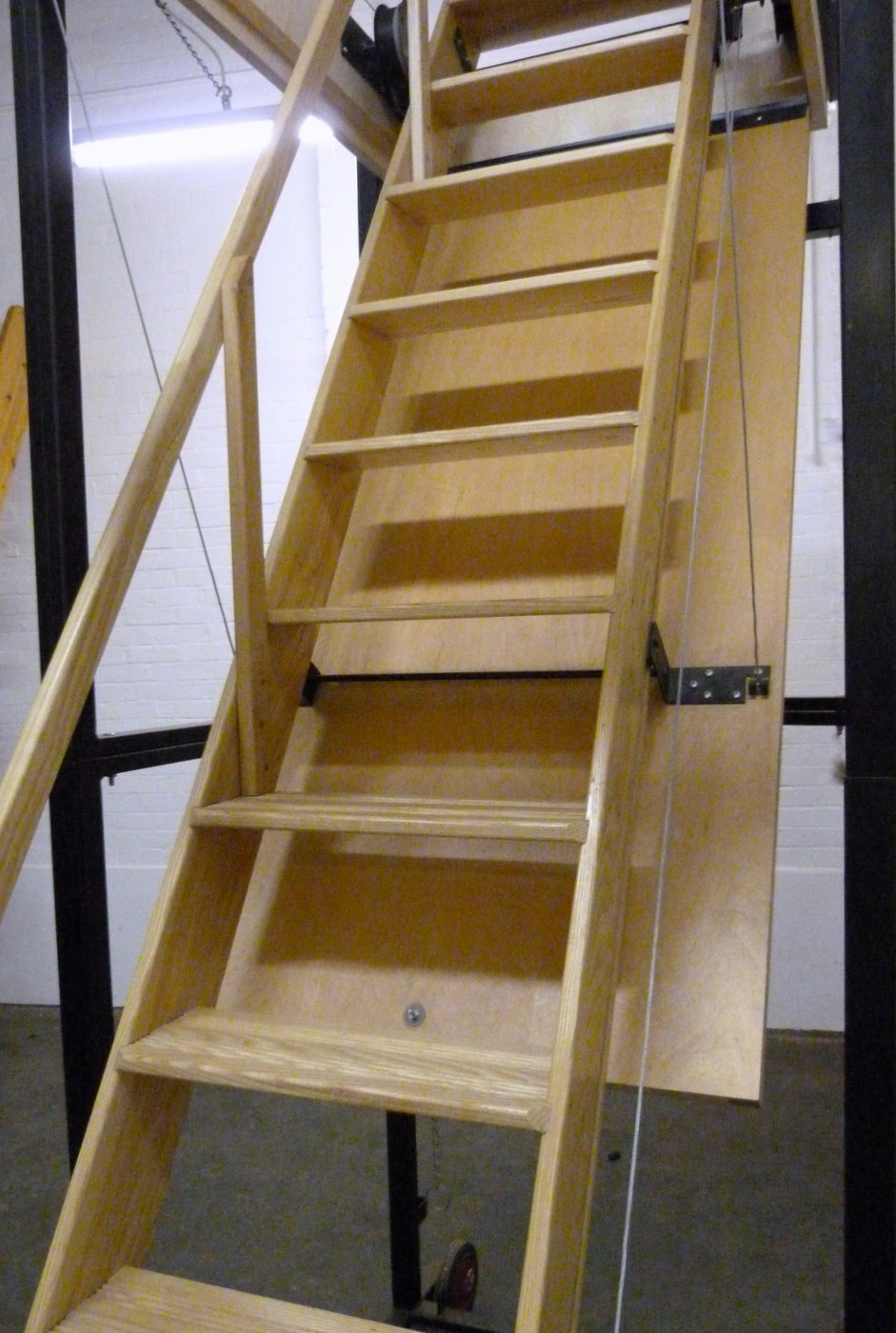 Heavy Duty Pull Down Stairs Rail New Folding Attic Stairs With for size 941 X 1400