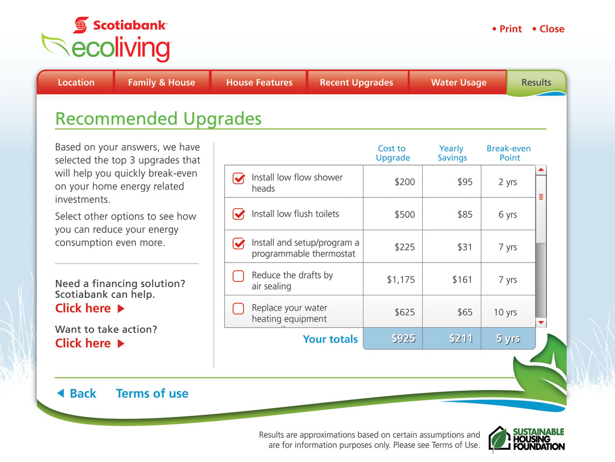Home Energy Savings Calculator The Sustainable Housing Foundation pertaining to measurements 1200 X 901