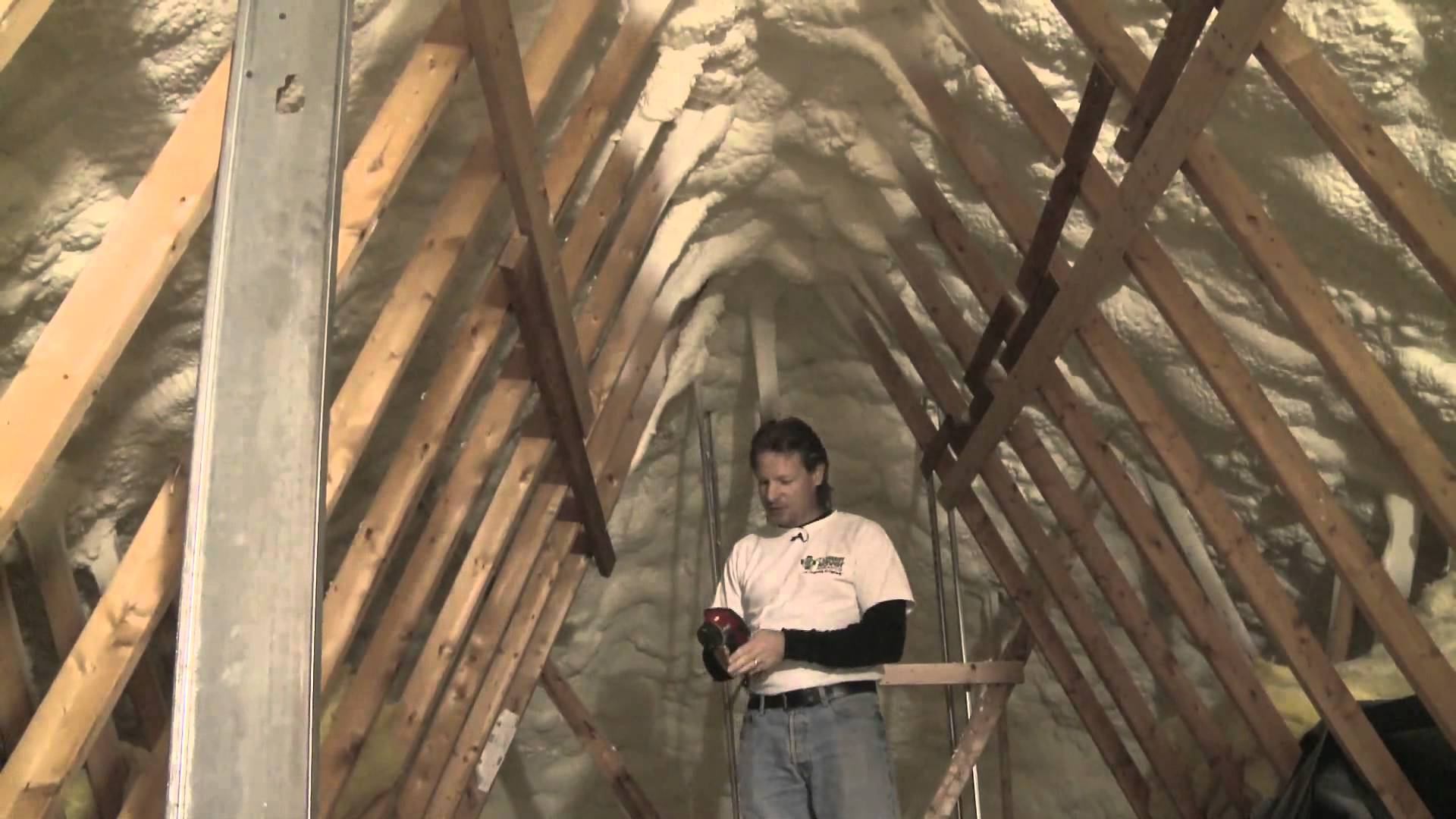 Insulating And Air Sealing An Attic With Spray Foam Short Version inside sizing 1920 X 1080