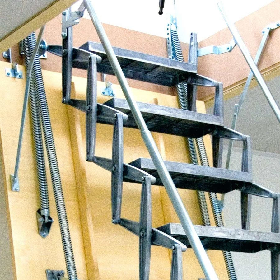 Ladder Small Opening Attic Ladder Small Wood Attic Ladder in size 900 X 900