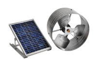 Master Flow 500 Cfm Solar Powered Gable Mount Exhaust Fan Pgsolar with regard to measurements 1000 X 1000