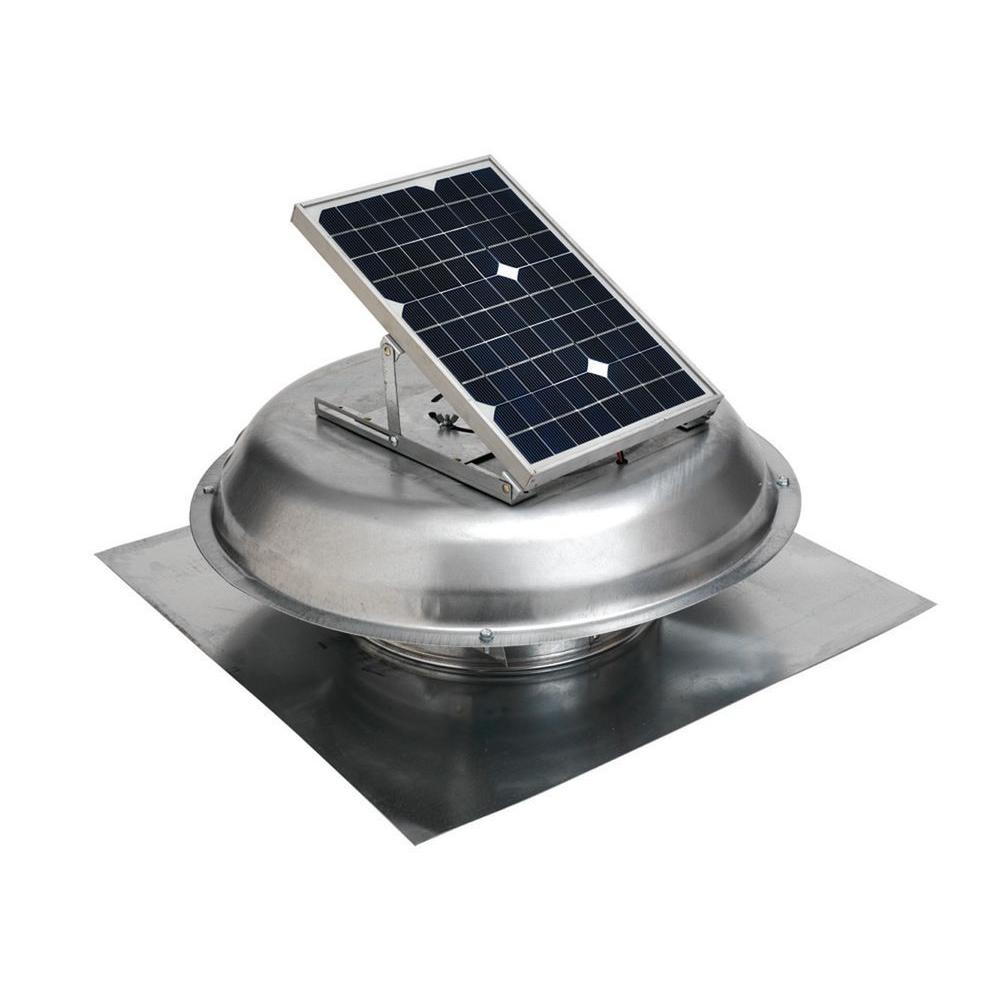 Master Flow 500 Cfm Solar Powered Roof Mount Exhaust Fan Prsolar in sizing 1000 X 1000
