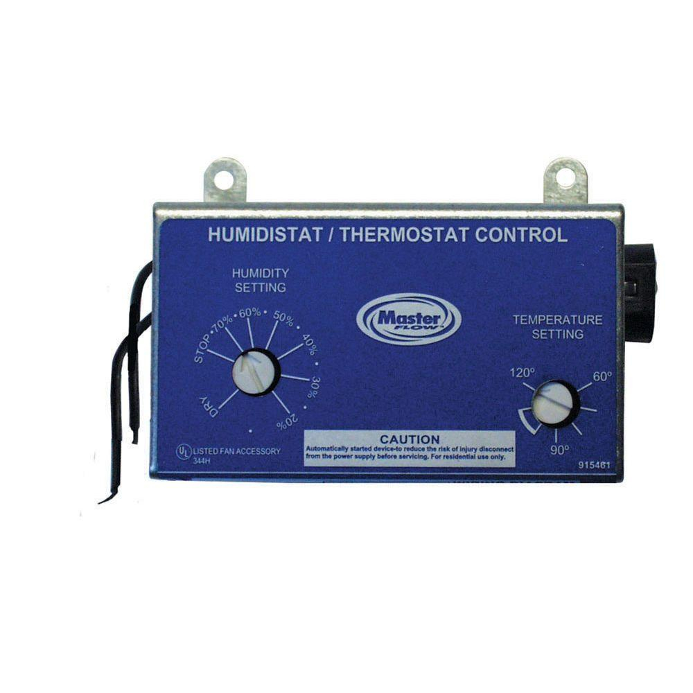 Master Flow Manually Adjustable Humidistatthermostat Control For Pertaining To Size X on Wiring A 2 Sd Whole House Fan Switch