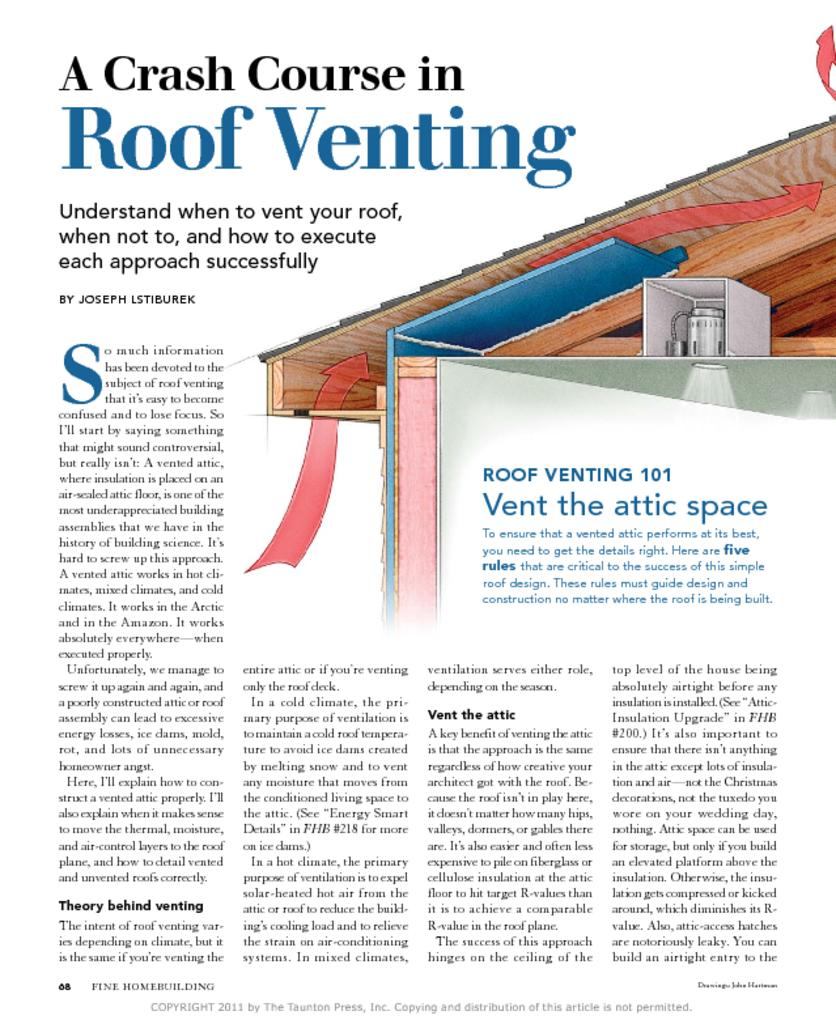Soffit And Ridge Vent Calculations