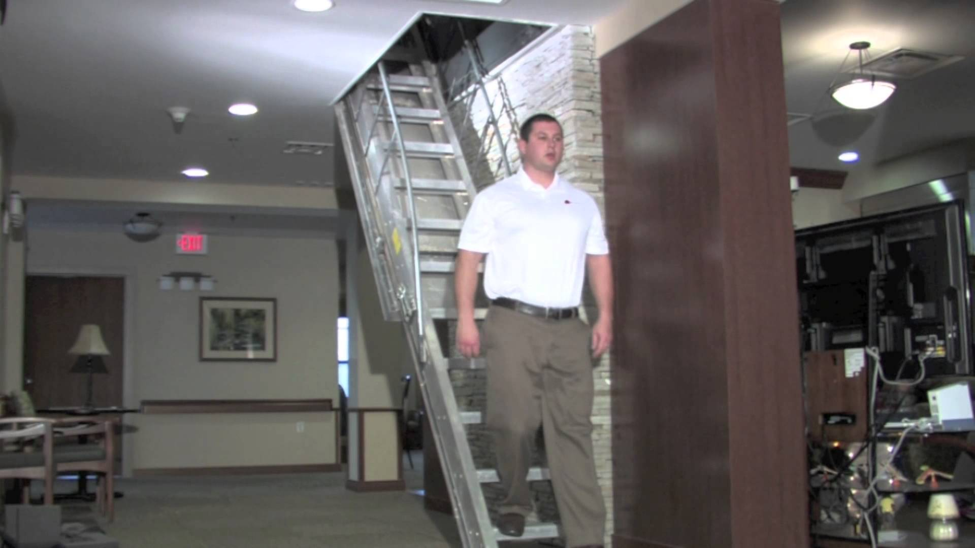 Precision Ladders Automatic Electric Disappearing Attic Stairs pertaining to dimensions 1920 X 1080