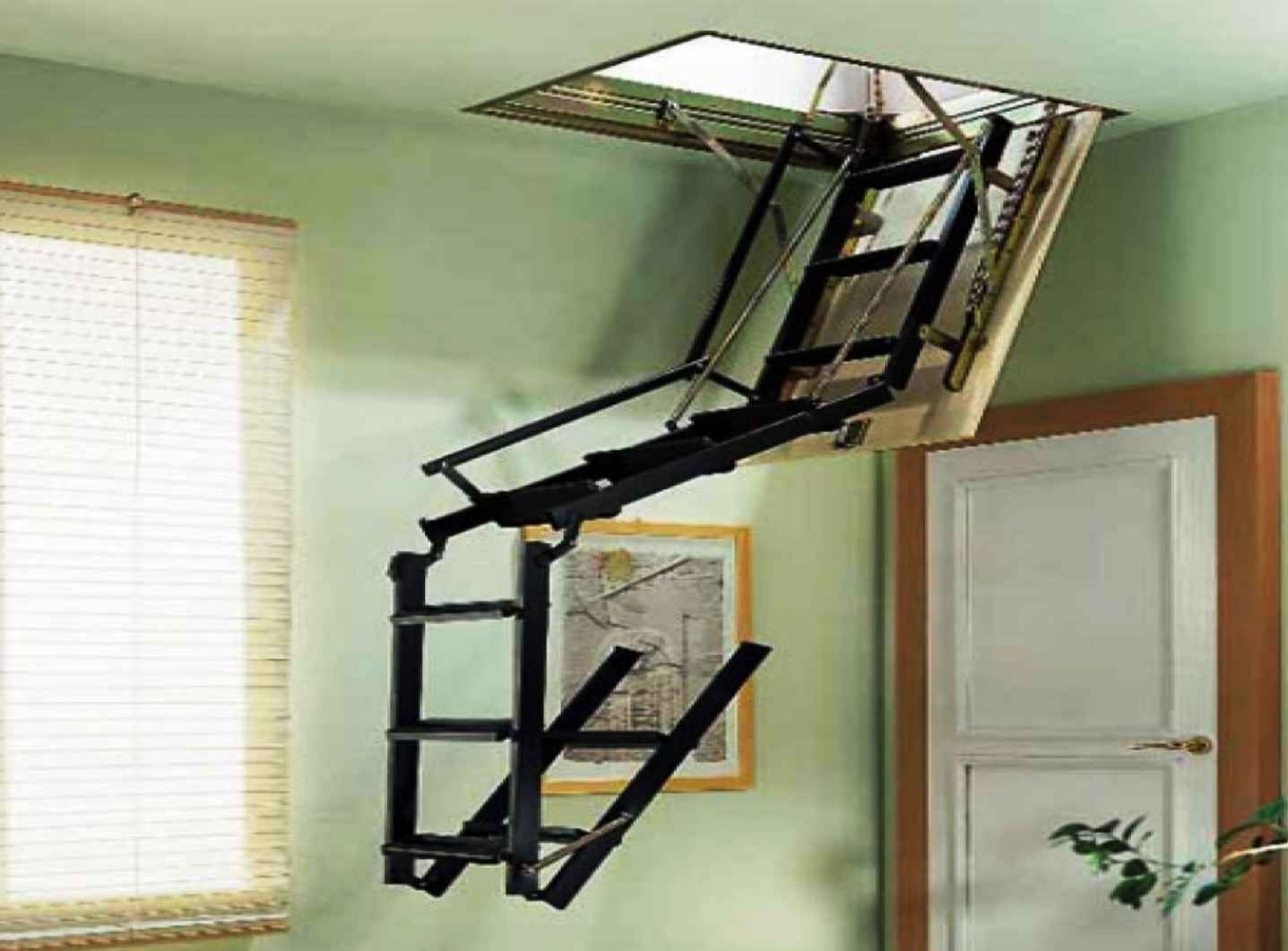 Pull Down Attic Stairs For Installing The Kienandsweet Furnitures  Throughout Measurements 1437 X 1061