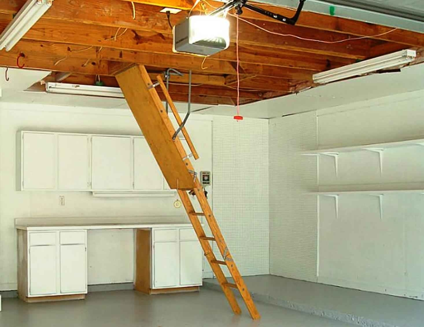 Attic stairs spring drums attic ideas for Attic pull down