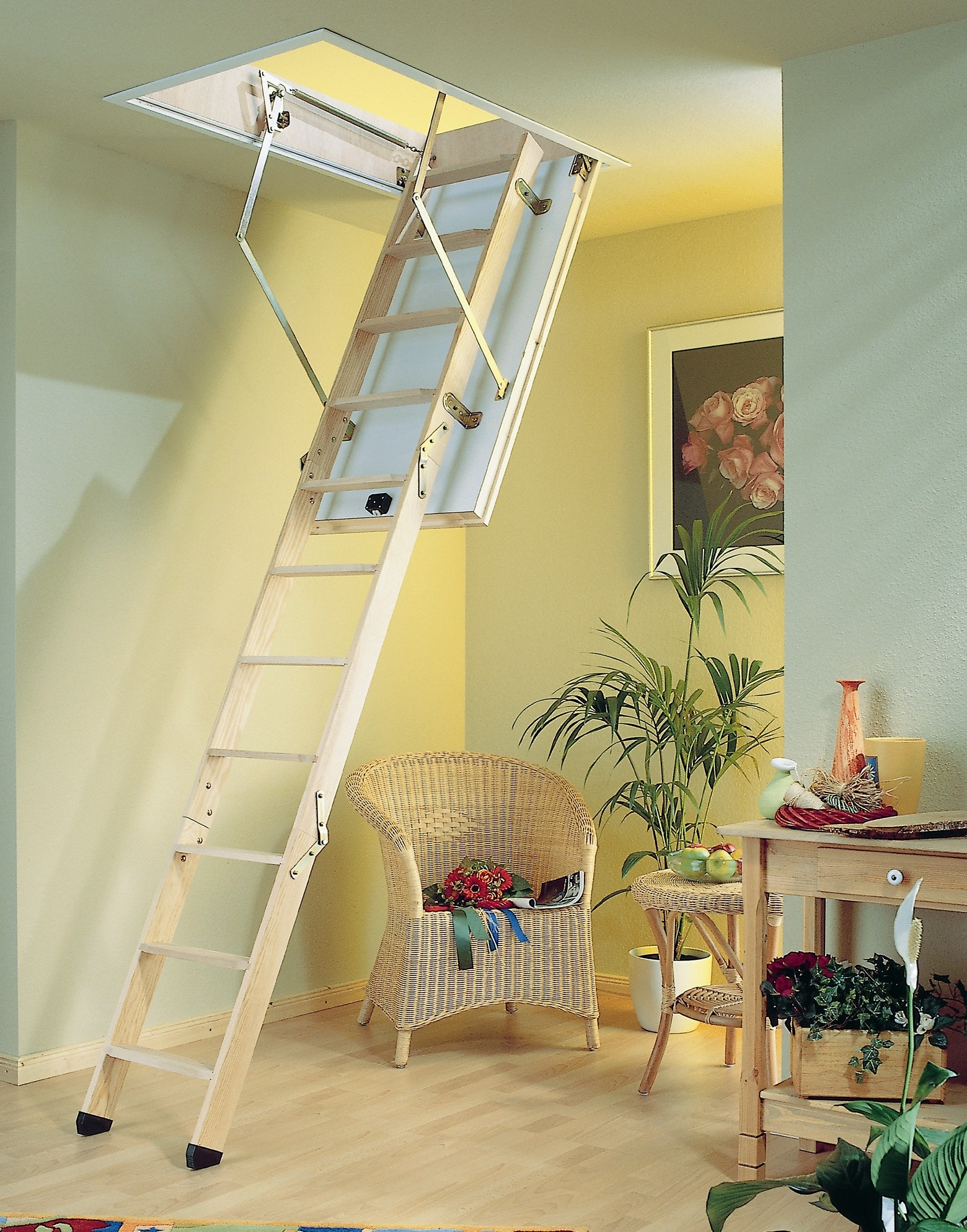 Pull Down Attic Stairs For High Ceilings Attic Ideas