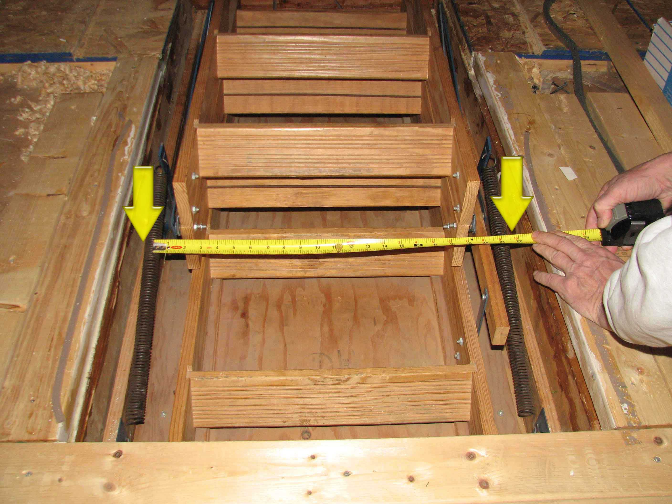 Wooden Attic Ladder Springs Attic Ideas