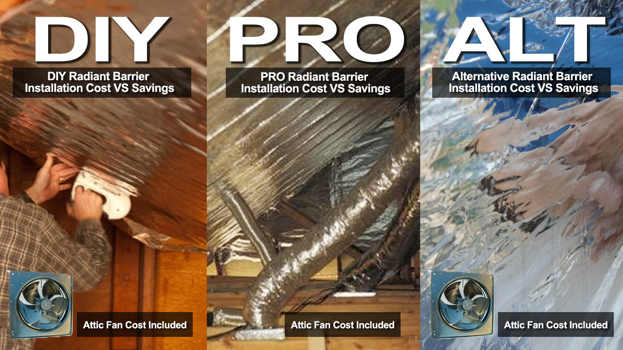 Radiant Barrier Comparison Costs Vs Savings Diy Pro Alternative within measurements 1280 X 720