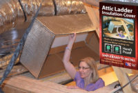 Reach Barrier 3139 Reflective Air Attic Ladder Insulation Kit in size 1279 X 785