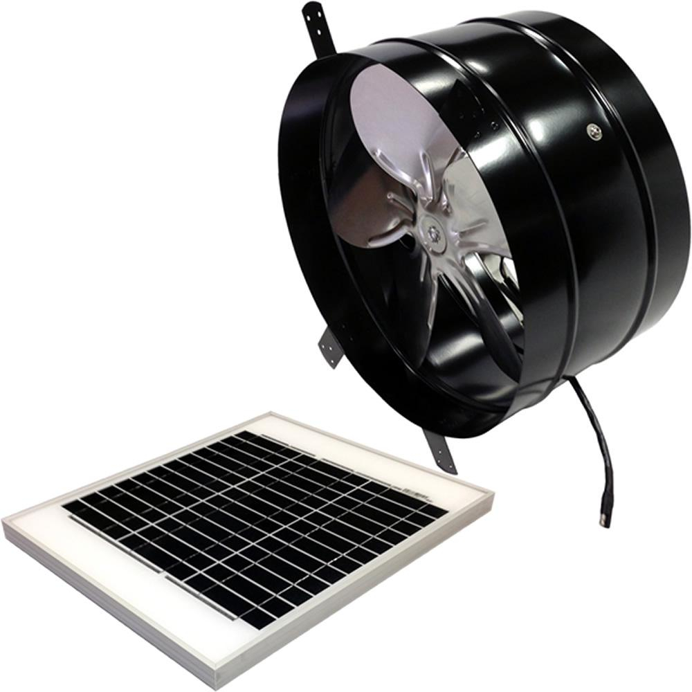 Remington Solar 20 Watt 1280 Cfm Gable Mount Solar Powered Attic in dimensions 1000 X 1000