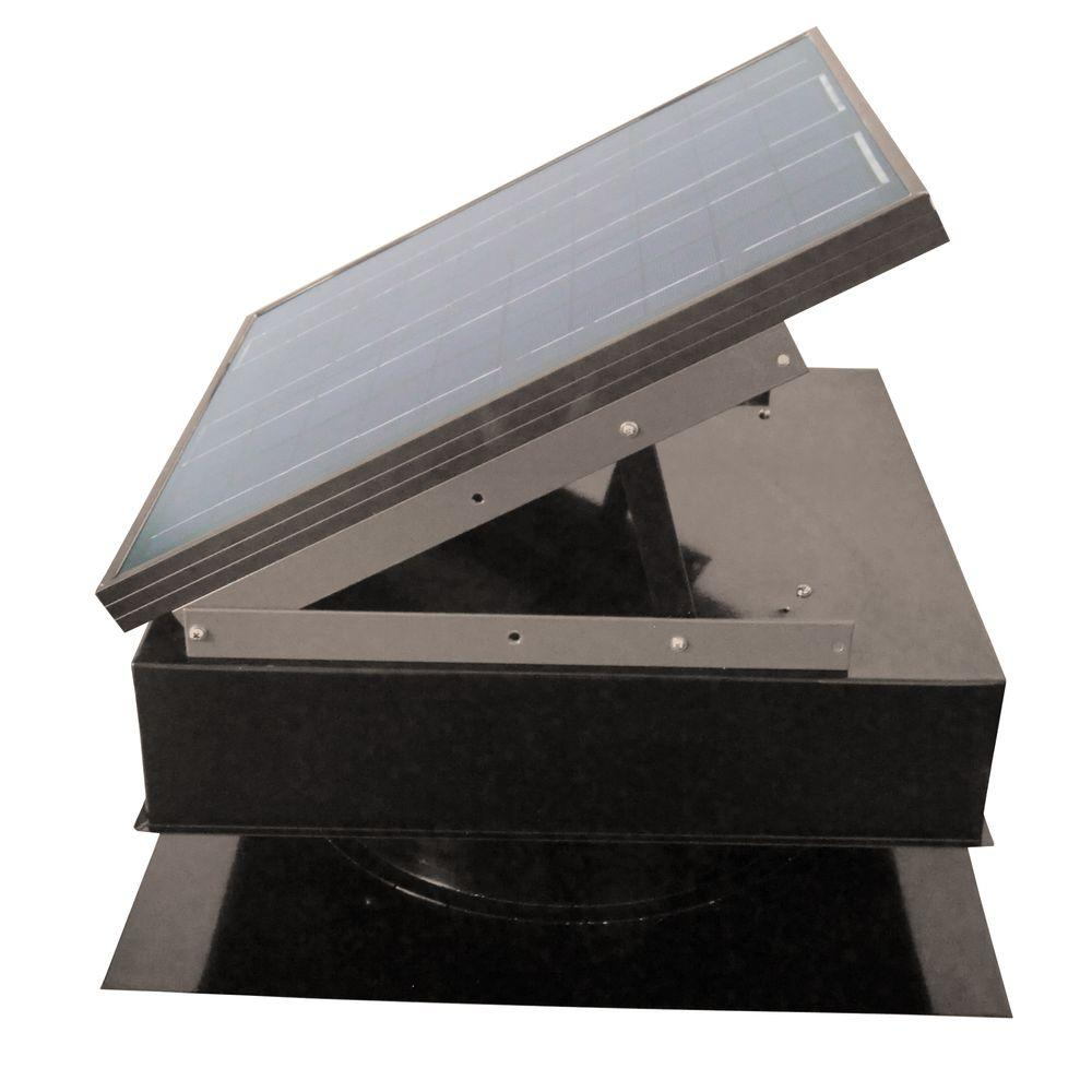 Remington Solar 25 Watt 1420 Cfm Gray Solar Powered Attic Fan Sf25 intended for proportions 1000 X 1000