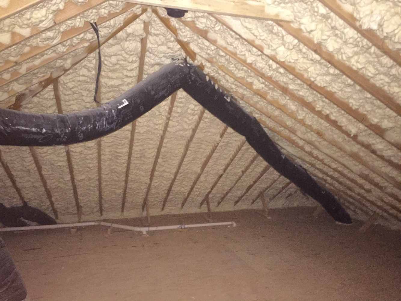 Roof Spray Foam Insulation In Attic Wonderful Roof Foam with sizing 1334 X 1000