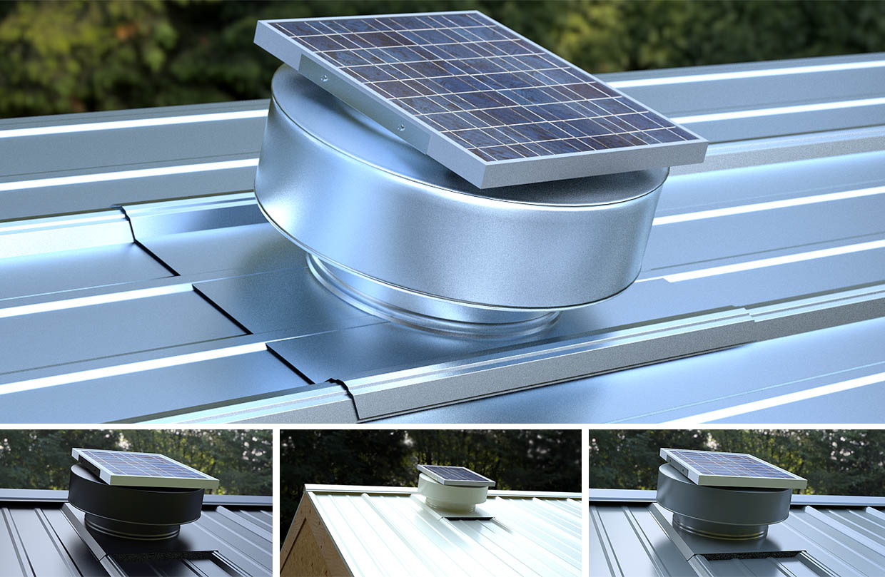 Solar Powered Attic Fan For Metal Roof Attic Ideas