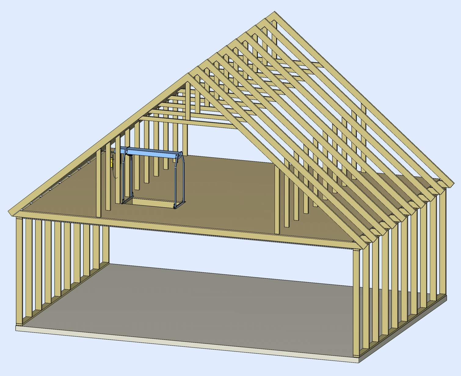 Attic roof truss design calculator attic ideas for Price on roof trusses