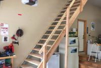Sliding Attic Stairs Rail New Folding Attic Stairs With Handrail intended for size 1247 X 1247