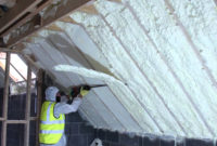 Spray Foam Of Attic Using Fusion Sprayfoam Insulation Being Cut pertaining to proportions 1920 X 1080