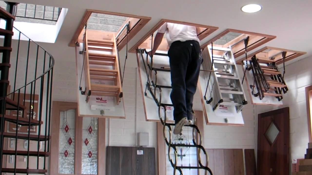Ladder Small Opening Attic Wood Intended For Sizing 728 X 1095