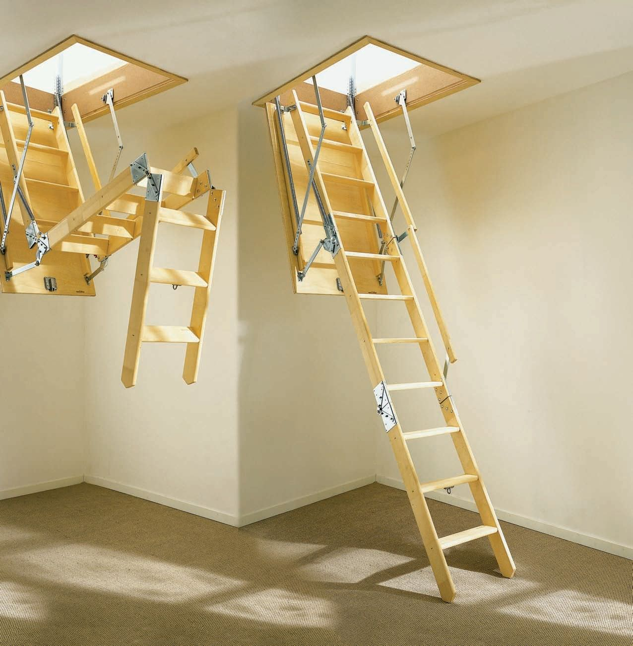 Ordinaire The Different Types Of Folding Attic Stairs Founder Stair Design Regarding  Proportions 1276 X 1301