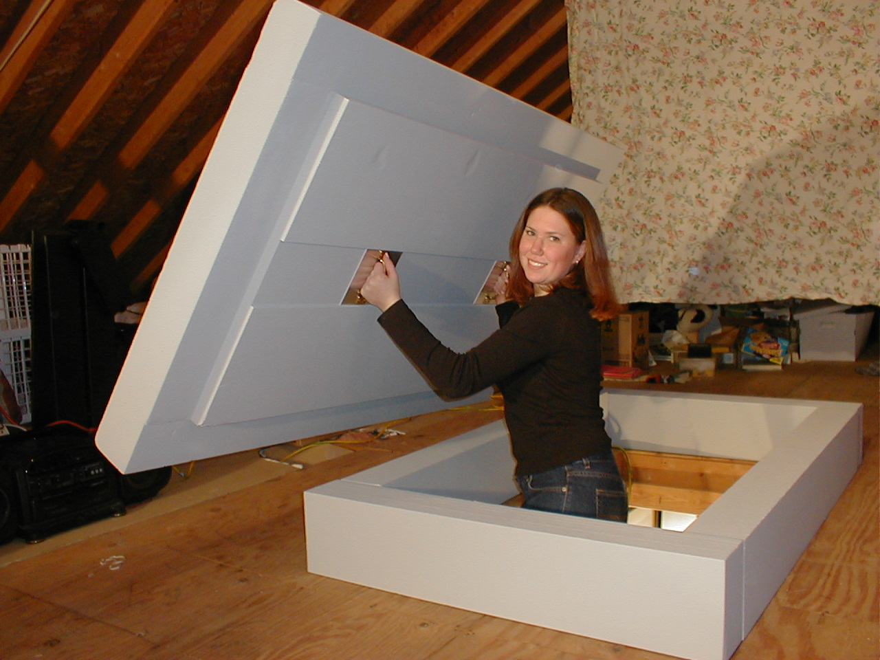 Attic Hatch Insulation Tent Attic Ideas