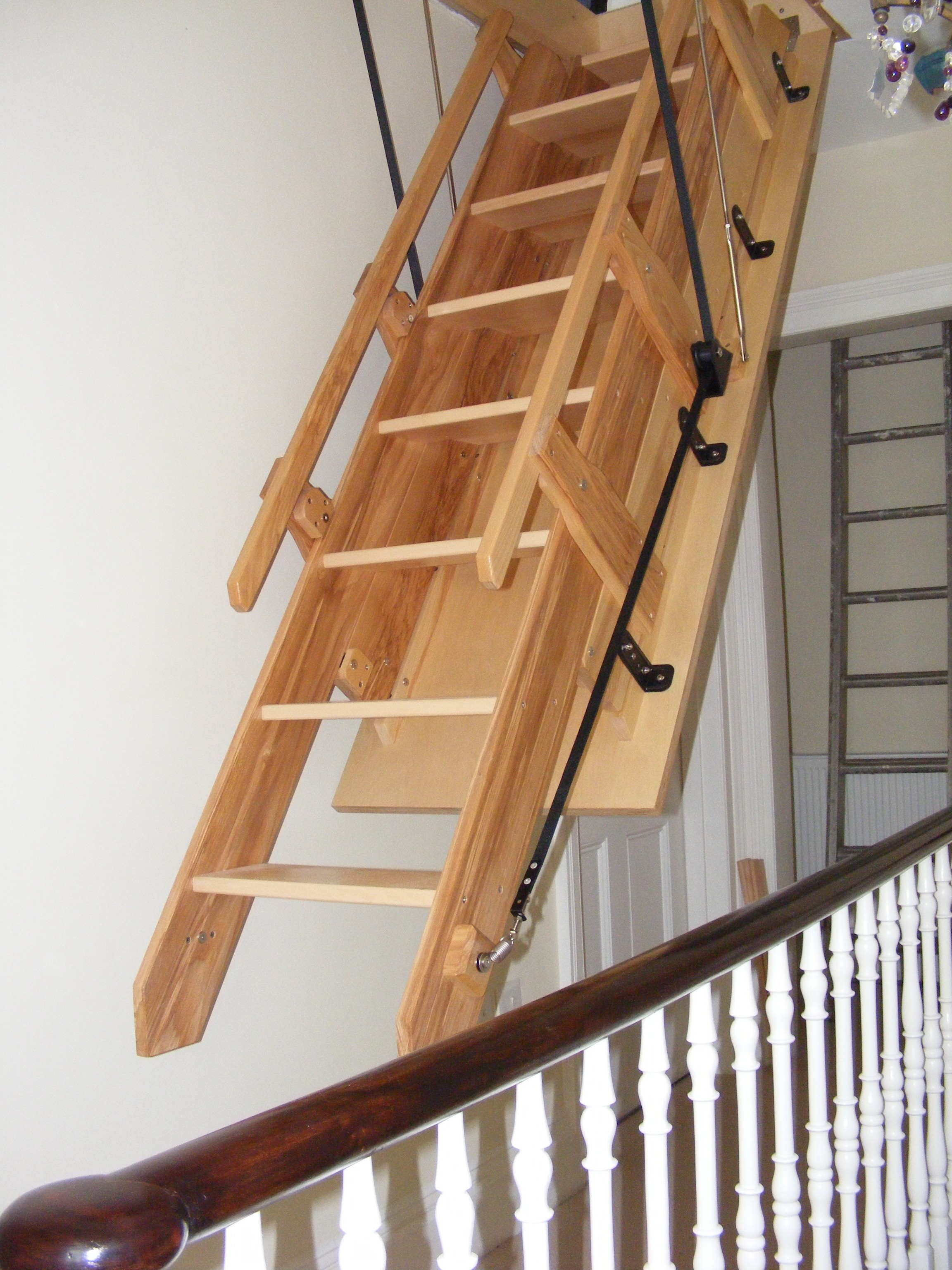 Pull Down Attic Stairs With Handrails Attic Ideas
