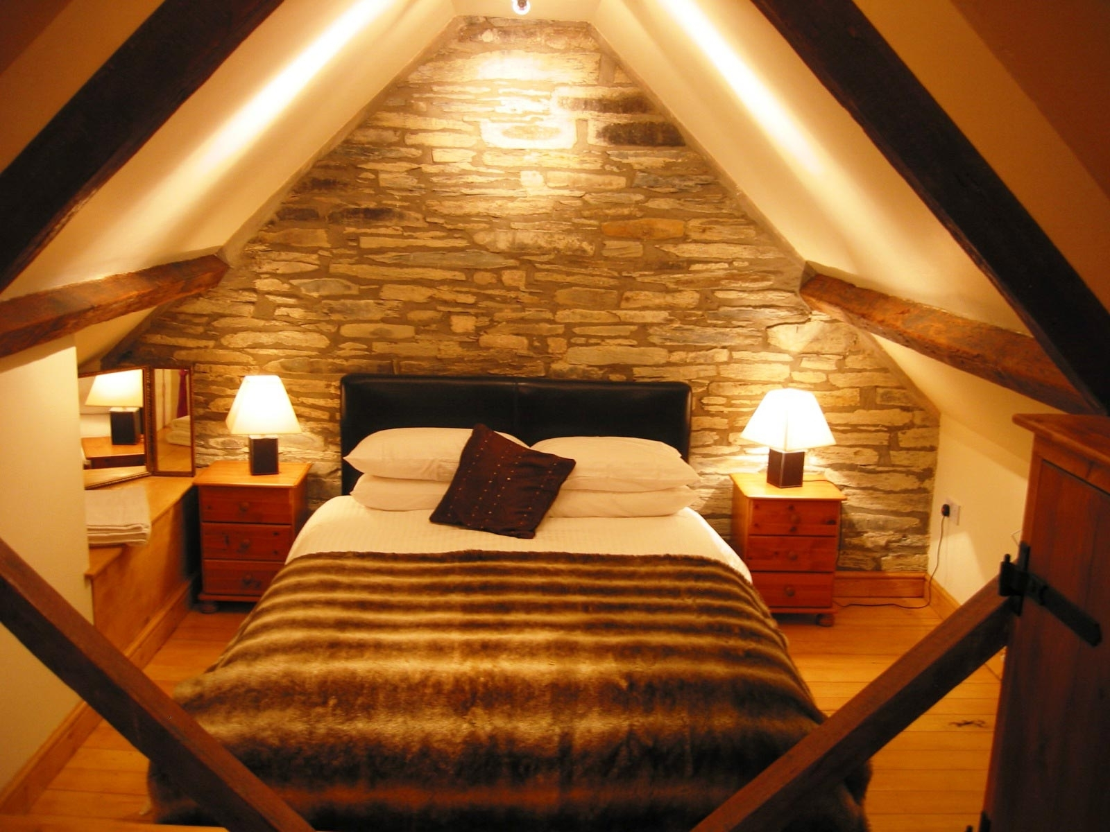 Very Small Attic Ideas Bedroom Sloping Ceilings W Shaped Trusses intended for proportions 1600 X 1200