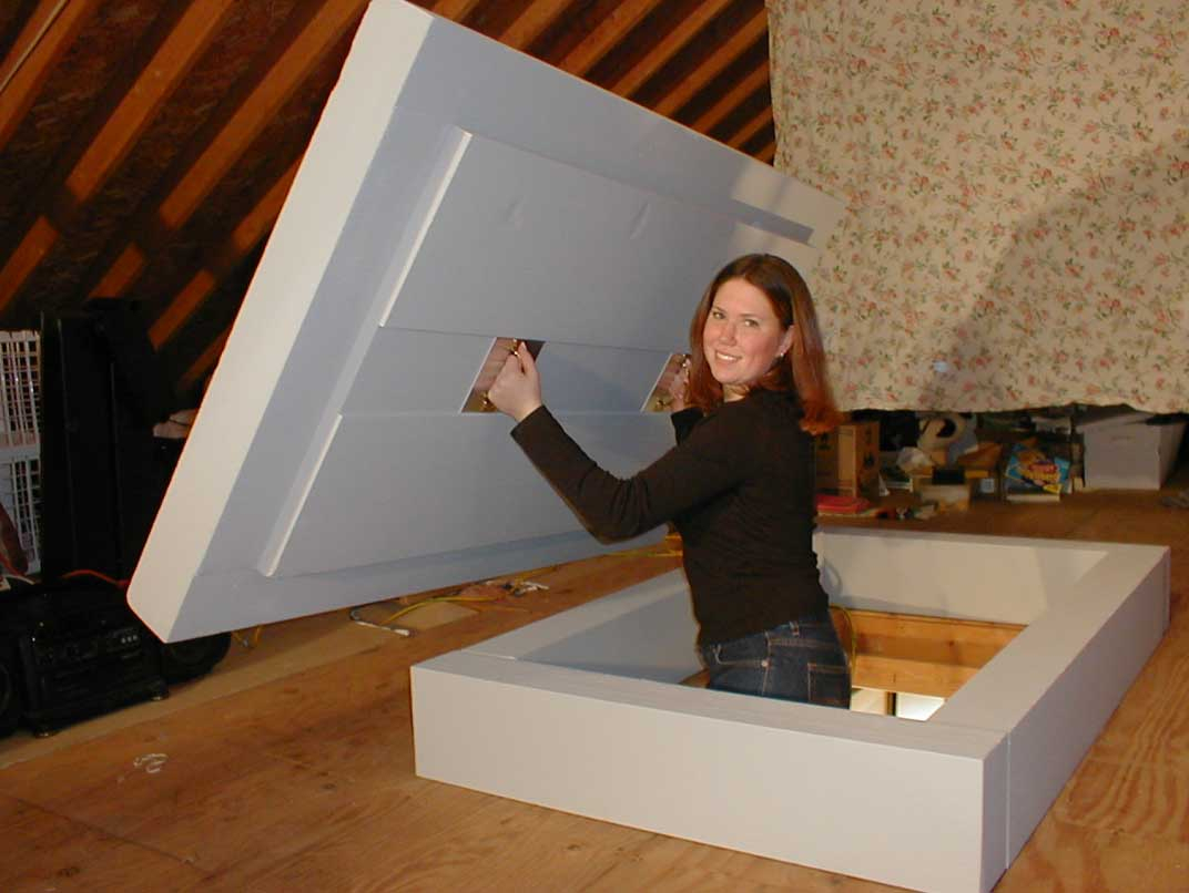 Drop Down Attic Door Insulation Attic Ideas