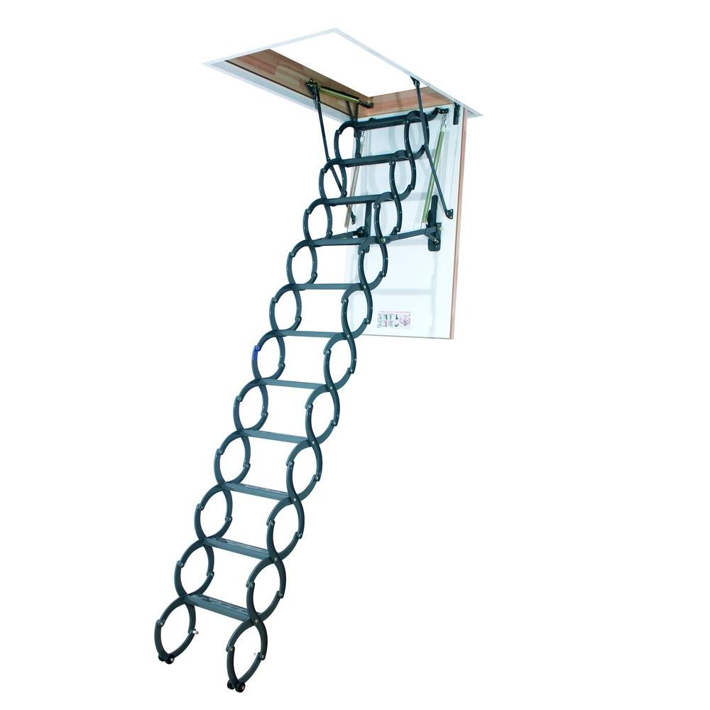 Werner 12 Ft 25 In X 66 In Aluminum Attic Ladder With 375 Lb regarding sizing 1000 X 1000
